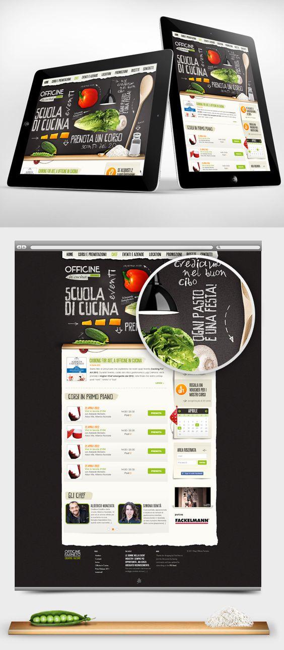 Officine in Cucina - Web interface Design by Gaia Zuccaro, via Behance