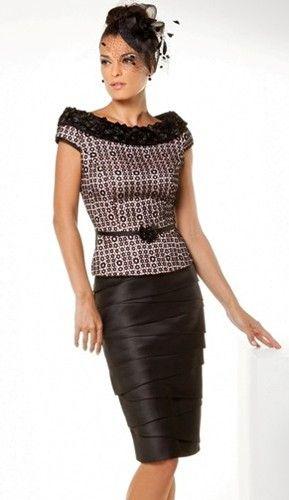 A flattering formal daywear design by Sonia Pena. #Bride #Mother #Dress