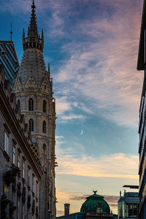 New moon over Vienna by Steen Rasmussen on 500px