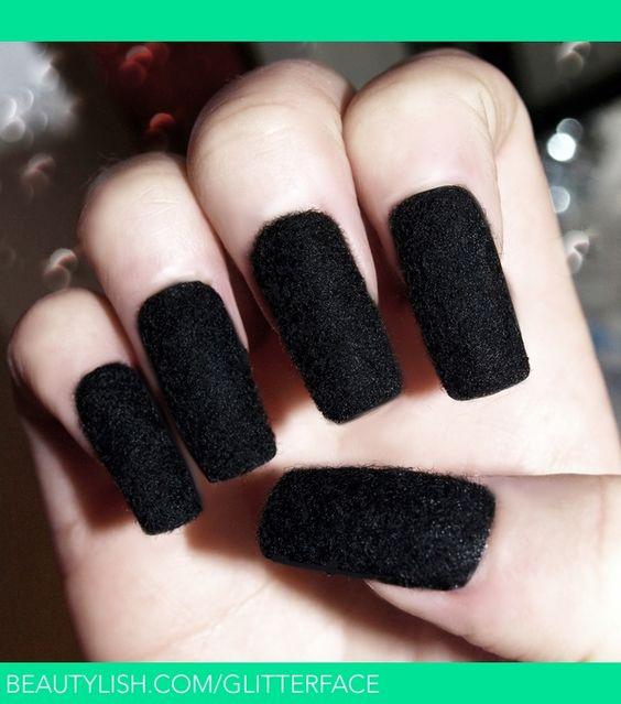 Blackest Black! Velvet Nails | Glitterface x.'s (glitterface ...