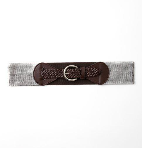Metallic Wide Stretch Belt