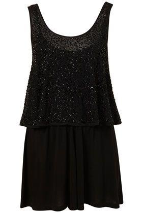 Black Embellished Playsuit #topshop #summerfashion