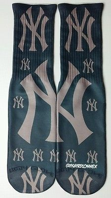 Custom Yankees dry Fit socks gamma laney New York bred in Clothing, Shoes & Accessories, Men's Clothing, Socks | eBay