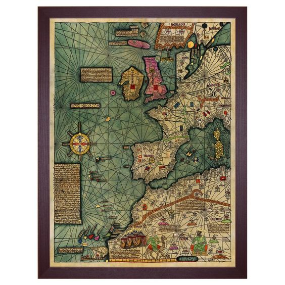 The Continent Europe  Medieval Map, All Kingdoms of the World - copy world map africa continent