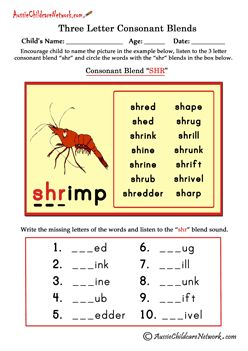 Worksheets 3 Letter Blends Worksheets free three letter consonant blends worksheets beginning and ending sound blends