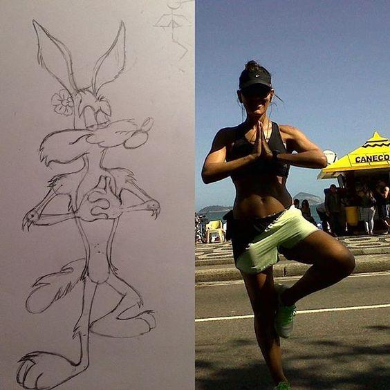 Instagram media aline_hallais - Qualquer semelhança não é mera coincidência  #desenho #desenholivre #cartoon