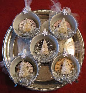 Tons of vintage inspired ornaments