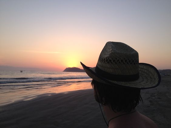 Sun set in #costarica. Sometimes you just have to stop and smell the sea.