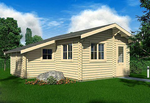 Ferienhaus Aus Holz Bauen Ferienhaus Bausatz Kaufen Wochenendhaus In 2021 Satteldach Ferienhaus Bauen Gartenhaus