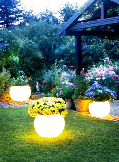 DIY Glow In The Dark Planters Gardening Ideas Pinterest Glow The O 39