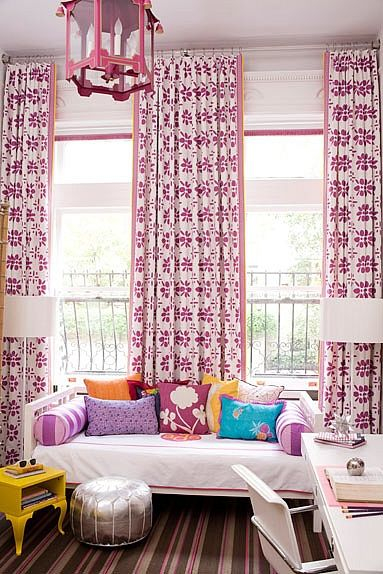 Beautiful Girl's Room. Pink & Patterns!