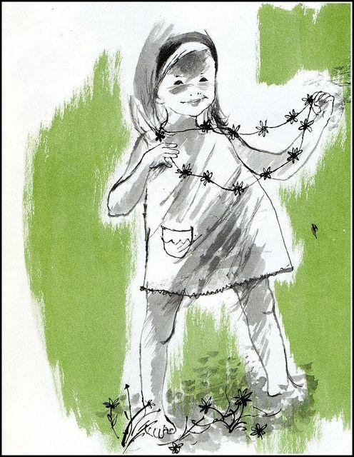 Girl with daisy chain
