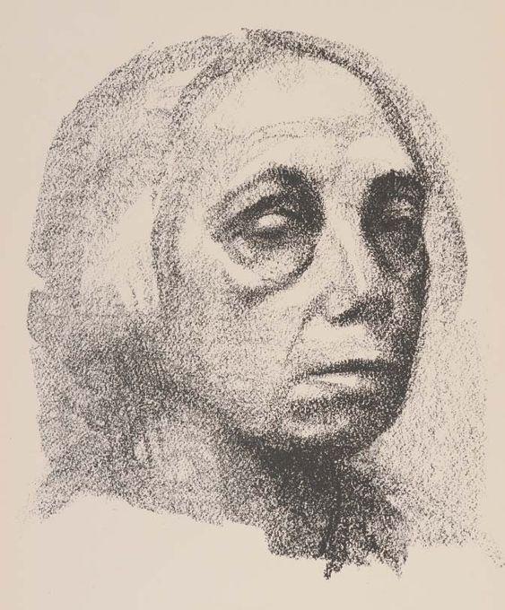 Käthe Kollwitz ~ Self-Portrait, 1920 (lithograph):