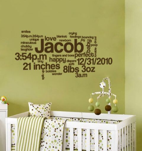 Wanddeko einmal anders: Name, Geburtsgewicht, Größe ... von Deinem Baby.  #bayzimmer #kinderzimmer #wanddeko #deko #kidscomfort