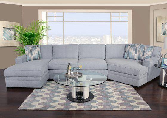 Poseidon Ii 3 Teiliges Chaise Sectional Mit Kuschler Wohnzimmermobel Sofa Layout Wohnzimmer Design