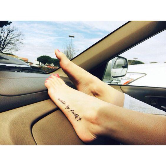 """""""walk by faith"""" tattoo (2 Corinthian 5:7)"""