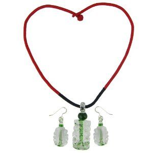 Fashion Pendant and Earrings Set For Women Crystal Jewelry Handmade In India (Jewelry)