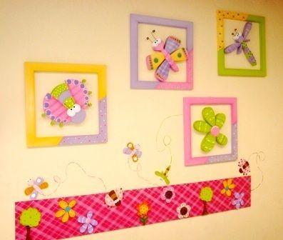 Cajas de madera decoradas buscar con google madera - Cuadros para habitaciones infantiles ...