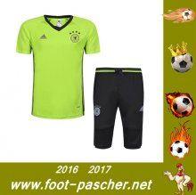 T-Shirt Du Allemagne + Pantalon 3/4 Vert Kit Saisson 2016 2017 Thailande Pas Chere