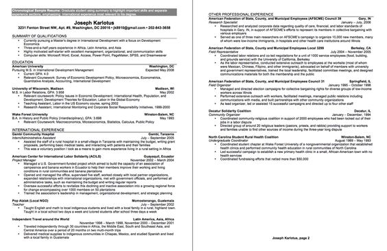 Undergraduate Sample CV - http\/\/resumesdesign\/undergraduate - optimal resume sanford brown