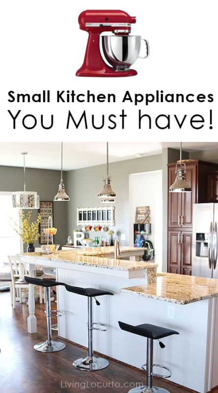 Must Have Small Kitchen Appliances! Make cooking more fun with a few items in your kitchen.