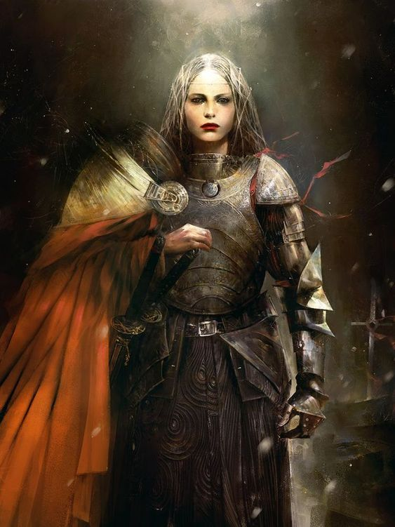 Fantasy painting - Simon Goinard Plausible female armor ...