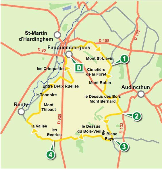L'Audomarois - Cartes des randonnées pédestres - Cartes - Pas-de-Calais le Département