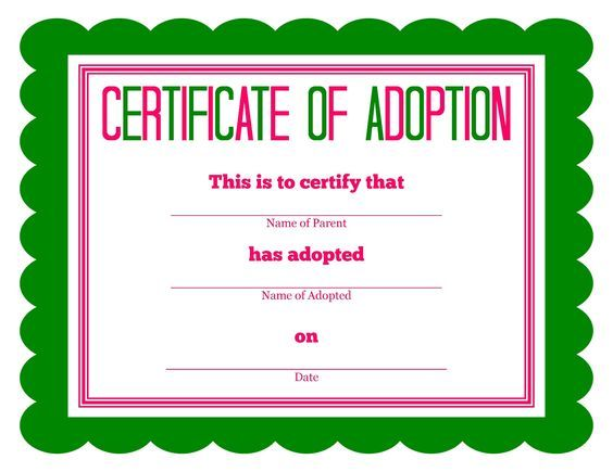 More Stuffed Animal Adoption Certificates With Images Adoption