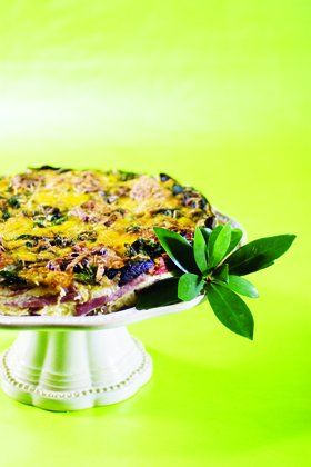 Ham and spinach frittata with roasted red peppers. #brunch #eggs #recipes