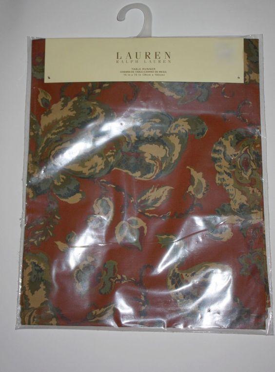 Ralph Lauren New Designer Table Decor Runner Hadley Floral NWT 15 x 72  #RalphLauren
