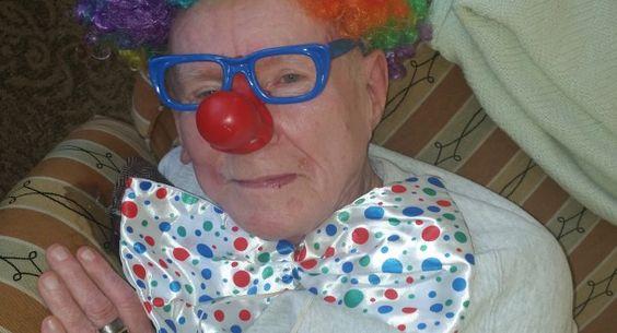 My Dad, Class Clown of His Memory Care Community   Healthline Contributors