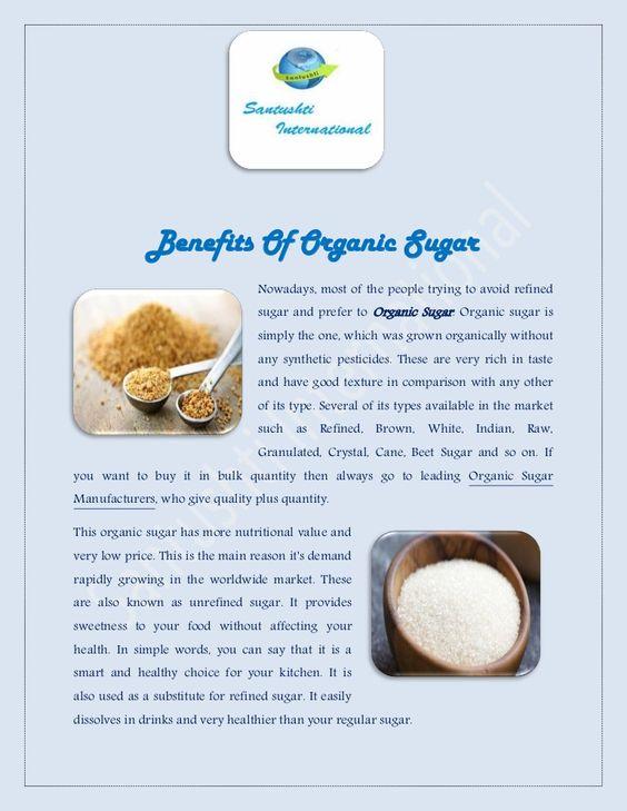 Benefits Of Organic Sugar