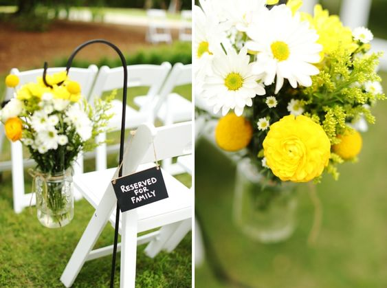 Fun and Bright Yellow and Gray Wedding