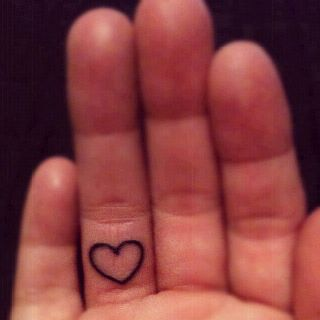 Put a little love in your hand... My newest ink and I love it!