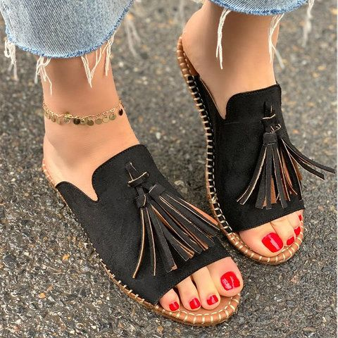 Women/'s Print Flat Hollow Out Casual Faux Leather Summer Sandals Vacation Shoes