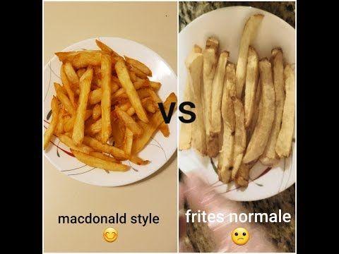 البطاطا المقلية على طريقة ماكدونالدز Frite Macdonald S Style Youtube Food Bacon Breakfast