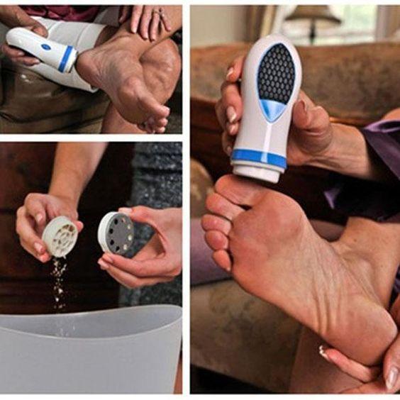 Pés ferramenta de remoção de pele morta esfoliante da pele rotação automática remove suavemente calos e pele seca ferramenta matagal de salto alishoppbrasil