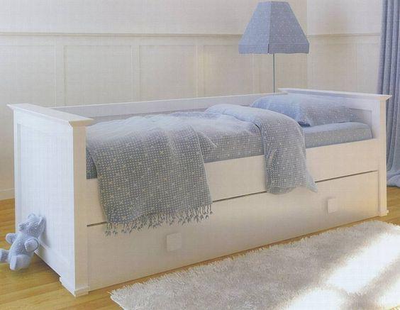 Sofa cama infantil con respaldo y cama nido hogar for Cama divan nina