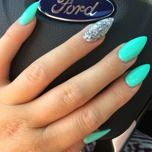 Image Result For Summer Neon Nails Teal Acrylic Nails Neon Nails Turquoise Nails