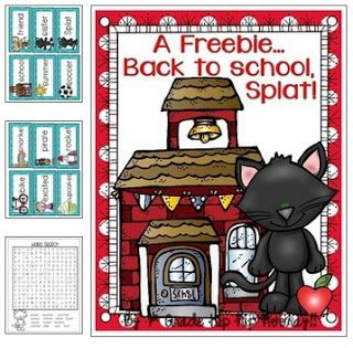 Splat...Back to School...and a freebie!!
