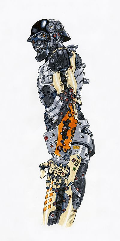 大友克洋による「ロボット」)