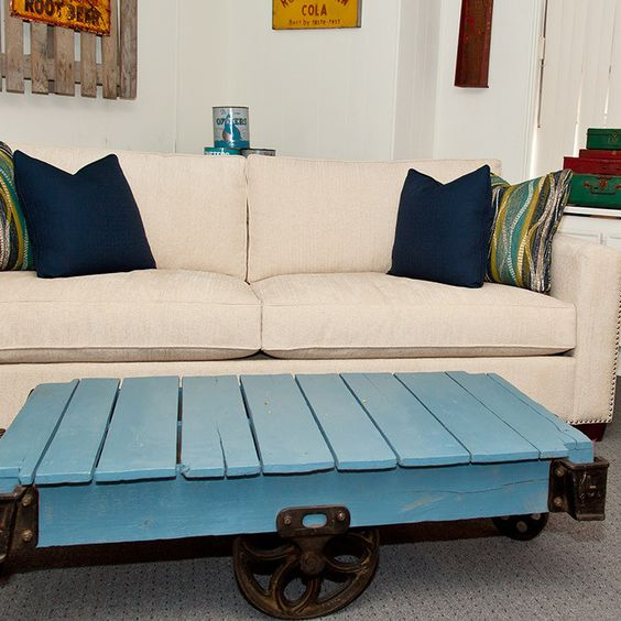 Cooper Sofa  Pallet Coffee Table!