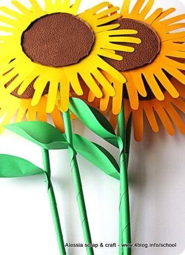 Fare fiori di carta grandi grandi: un mazzo di girasole