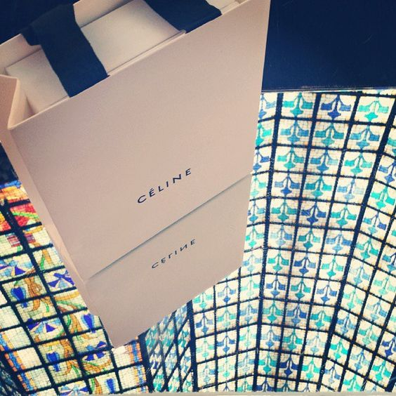 Céline shopping at Le Printemps, Paris