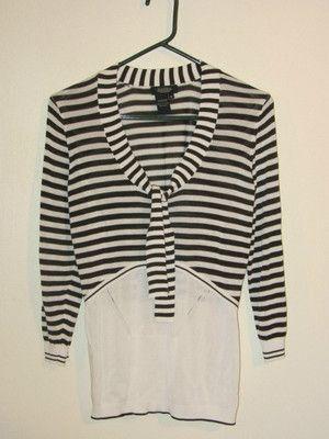 Peck & Peck Lightweight Sweater, Striped, Retro Style