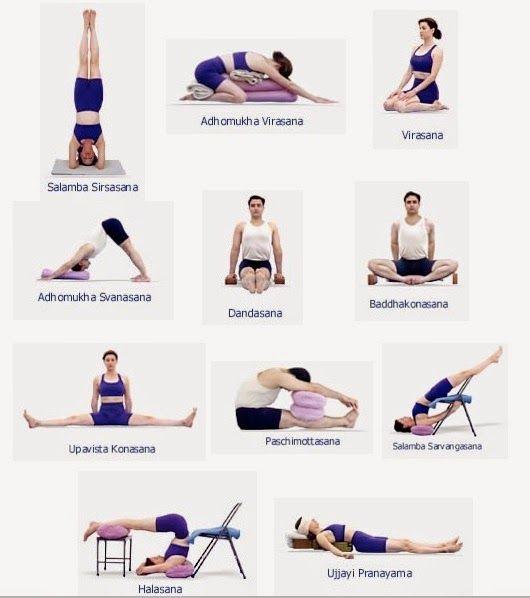 Poses y posturas de yoga para principiantes ~ Yoga-EnCasa.blogspot.com