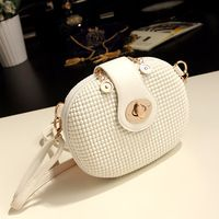 2014 Mini caramelo de color blanco bolsa de mensajero bolsas bolso pequeño de hombro de las mujeres de la moda