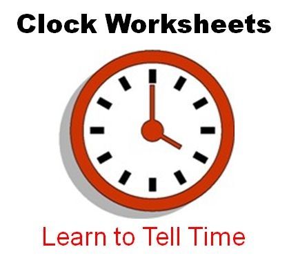 Printable Clock Worksheets. Teach kids to tell time and read clock ...