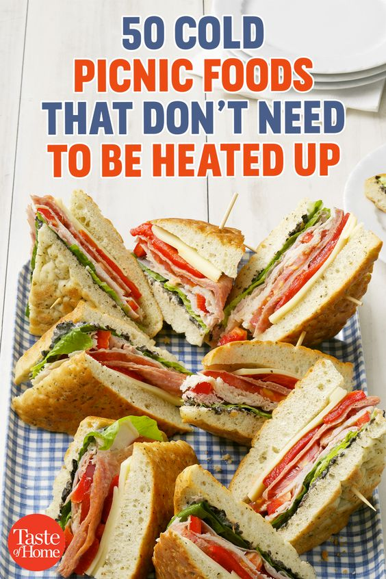 50 Cold Picnic Foods That Don't Need To Be Heated Up