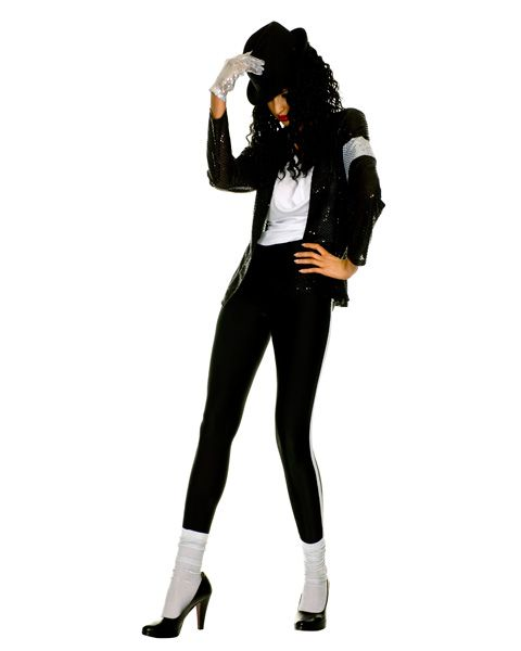 The Gloved One Sexy Sequin Adult Costume,$49.96